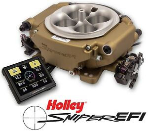 Holley Sniper Efi Xflow 550 546 4bbl Fuel Injection System Gold 1375hp Boosted