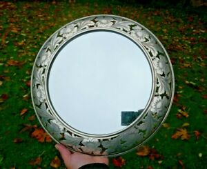 Antique Durgin Sterling Wall Mounted Mirror Victorian Display Plateau Mirror