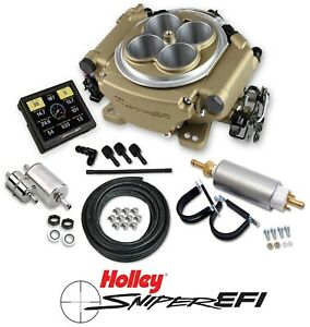 Holley Sniper Efi 550 516k 4 Barrel Fuel Injection Conversion Master Kit Gold