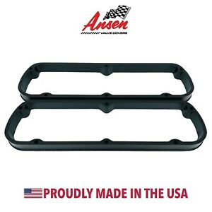 Ford 289 302 351w Valve Cover Spacers Black Die cast Aluminum Ansen Usa