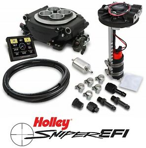 Holley Sniper Efi 550 511d 4bbl Fuel Injection Returnless Master Kit Black