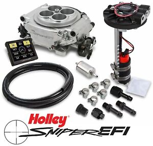 Holley Sniper Efi 550 510d 4bbl Fuel Injection Returnless Master Kit Shiny