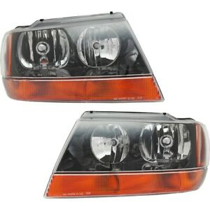 Headlight Lamp Left and right Lh Rh For Jeep Grand Cherokee 1999 2004