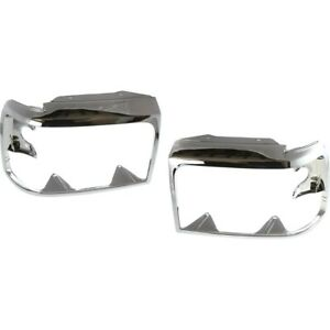 Pair Set Of 2 Headlight Doors bezels Chrome Left and right For Truck F150 F250