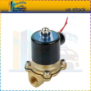 1 Pc Brass Air Ride Suspension Valve 1 2 Npt Port Electric Solenoid 12v 250psi
