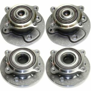 Wheel Hubs Set Of 4 Front Rear Left and right Lh Rh For Mini Cooper 2007 2015