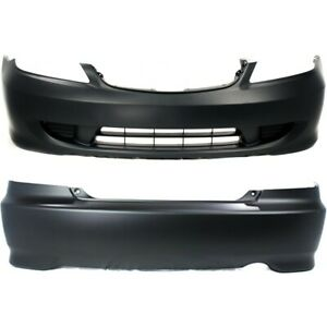 Bumper Covers Set Of 2 Front Rear Ho1100216 Ho1000216 Coupe For Civic Pair