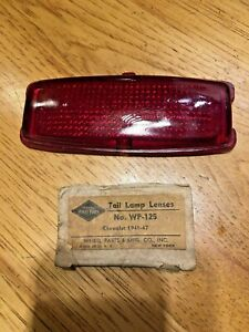 41 48 Vintage Chevy Red Glass Tail Light Lens Taillight Passenger Car