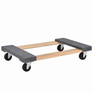 Heavy Duty 4 Wheeled Furniture Moving Dolly 1000 Lbs Capacity Carpeted Surface
