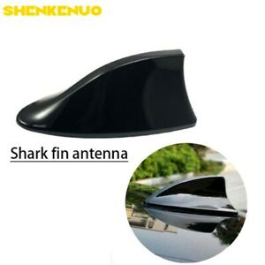 Shark Fin Style Car Top Roof Radio Am Fm Signal Antenna Aerial Waterproof Black