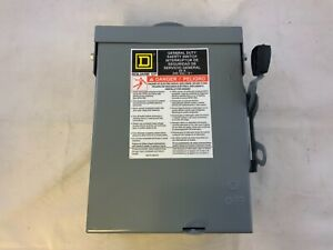 Square D Du222rb General Duty 60a 240v Non Fusible Safety Switch
