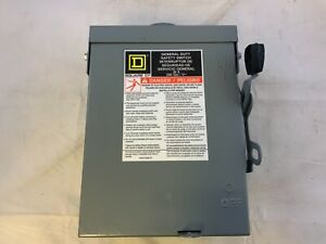 Square D D321nrb General Duty 30a 240v Fusible Safety Switch