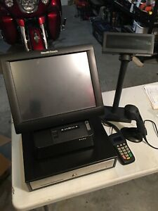 Retail Store Point Of Sale System Stealth Touch Screen Barcode Scanner