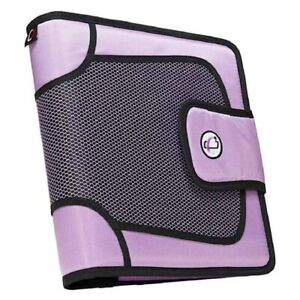 Case it Open Tab Velcro Closure 2 inch Binder With Tab File Lavender S 816 lav