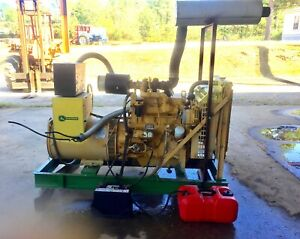 60kw Diesel Magna Plus John Deere Powered Generator Only 549 Hrs a trans Switch
