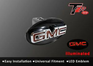 Gmc Logo Led Light Trailer Towing Hitch Brakelight Cover Chrome