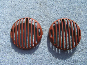 Original Pair 1936 Ford Fender Horn Grill Covers 36 Coupe Sedan