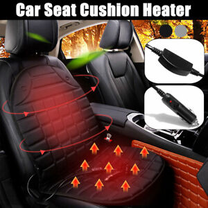 12v Car Seat Heater Heating Pad Winter Warmer Cushion Cover W 3 Level Switch Us