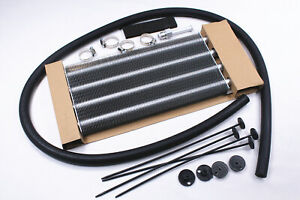 Heavy Duty Universal Remote Transmission Oil Cooler Kit 12 3 4 X 5 X 3 4