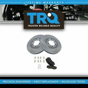 Trq Front Ceramic Brake Pad Rotor Kit For Rodeo Passport Trooper