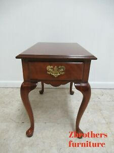 Harden Furniture Solid Cherry Chippendale One Drawer Lamp End Table B