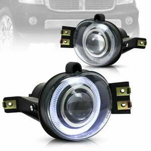 Led Halo Projector Fog Lights For Dodge Ram 1500 2500 3500 2003 09 Bumper Pickup