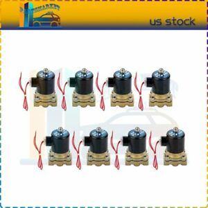 8 Pcs Brass Air Ride Suspension Valve 1 2 Npt Port Electric Solenoid 12v 250psi