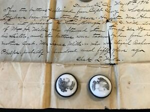 Antique Historical Mills Old Porcelain Sew Buttons Sandusky Oh Westminster Abbey