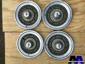 Rare 1970 s Oldsmobile Classic Wire Hubcaps 15 Inch set Of 4