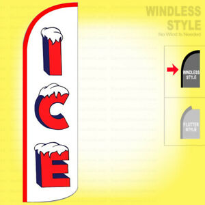 Ice Windless Swooper Flag 3x11 5 Ft Feather Banner Sign Wz