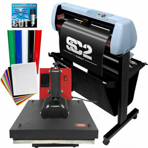 Bundle 34 Sc2 Vinyl Cutter 15 x15 Digital Heat Press Machine Htv Sign Vinyl