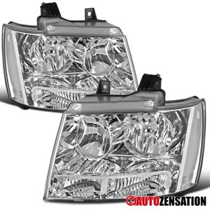 For 2007 2014 Chevy Tahoe Suburban Clear Headlights Signal Parking Lamps Pair