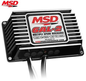 Msd 64213 6al 2 Ignition Box Digital W Built in 2 Step Sbc Bbc Sbf Chevy Ford