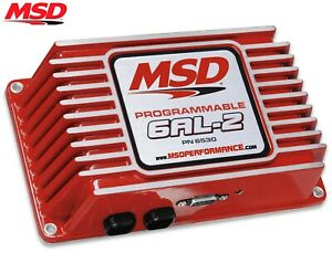 Msd 6530 6al 2 Programmable Ignition Box Built in 2 Step Sbc Bbc Sbf Chevy Ford