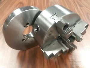 6 4 jaw Self centering Lathe Chuck Top Bottom Jaws D1 3 Semi finished Adapter