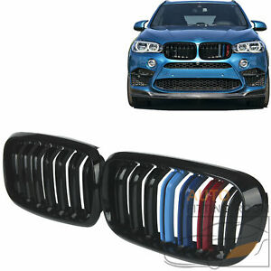 For 2014 18 Bmw F15 X5 X6 Tri color Sport Style Front Hood Kidney Grille Grill