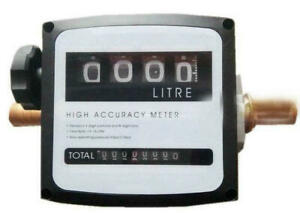 4 Digital Diesel Fuel Oil Flow Meter Counter With Iron Fitting Accuracy