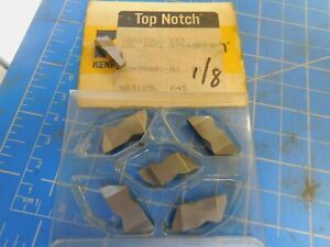 6 Kennametal Top Notch Ng 3125 L K45 1 8 Wide Carbide Grooving Inserts