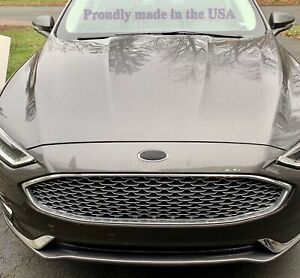 Carbon Fiber Weave Oval Decals Emblem Overlay Inserts Fit 2013 2019 Ford Fusion