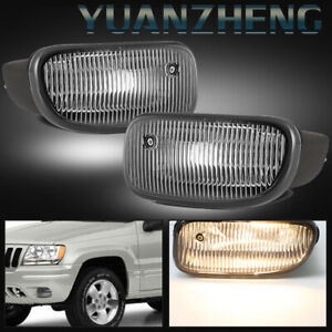 For 1999 2000 2001 2002 2003 Jeep Grand Cherokee Clear Front Bumper Fog Lights