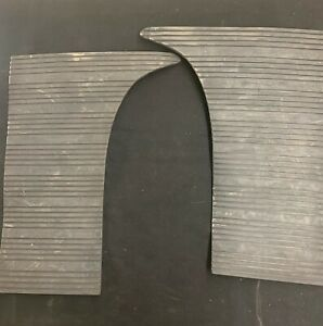 Pair Of 1948 Lincoln Rock Gravel Guards