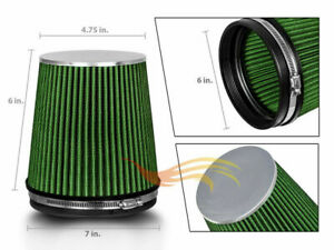 Green 6 152mm Inlet Short Truck Air Intake Cone Replacement Dry Air Filter