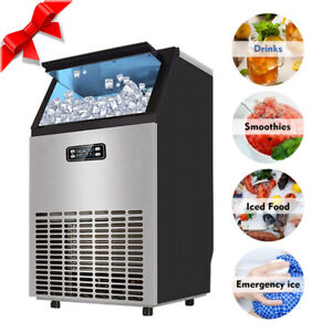 Smad Commercial Undercounter Ice Maker 100 Lbs Bar Ice Cube Machine Restaurant
