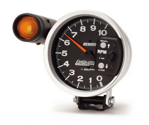 Auto Meter 233906 Gauge Tach 5 10 000 Rpm Shift Lite Memory Black Auto Gauge