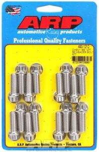 Arp 400 1212 Stainless Steel Header Bolts 12 point 3 8 16 1 Polished Bbc Chevy