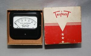 Vintage Triplett Model 421 Amp Meter Panel Mount W Original Box