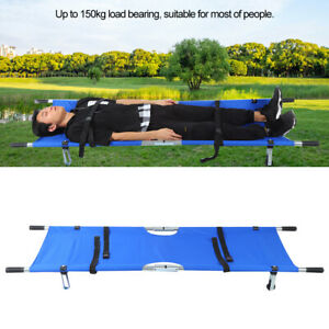Folding Medical Bed Stretcher Ambulance Emergency First Aid Patient Bed