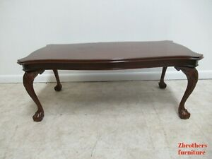 Henkel Harris Mahogany Chippendale Coffee Serving Table Ball Claw