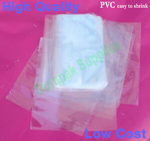 250 Pcs 12x16 Pvc Heat Shrink Film Wrap Flat Bag 100 Gauge Packing Supplies
