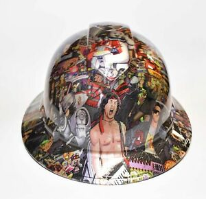 Custom Wide Brim Hard Hat Hydro Dipped In Remember The 80 s
